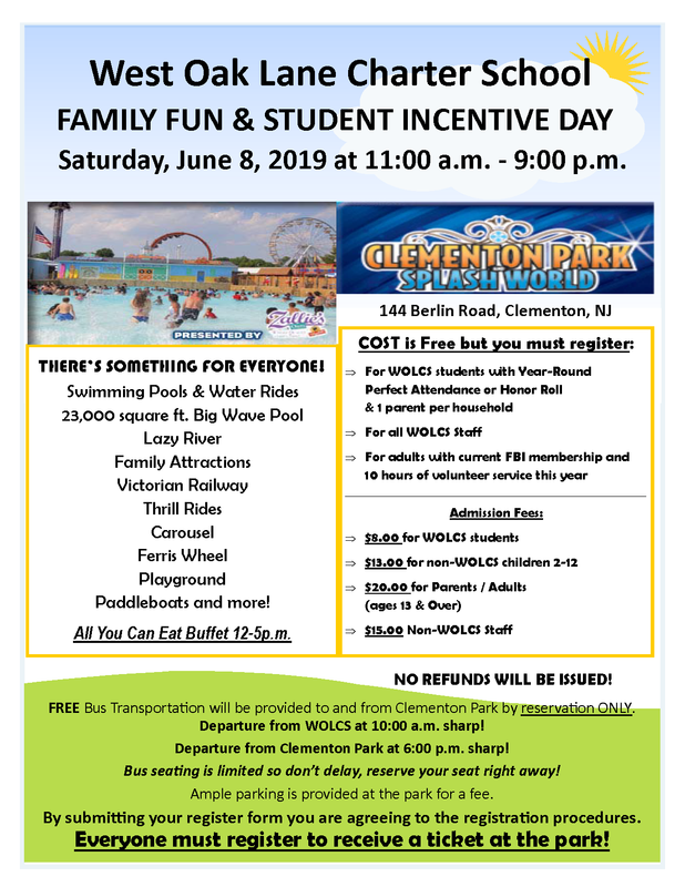 WOLCS FAMILY FUN & STUDENT INCENTIVE DAY INFORMATION AND REGISTRATION Featured Photo