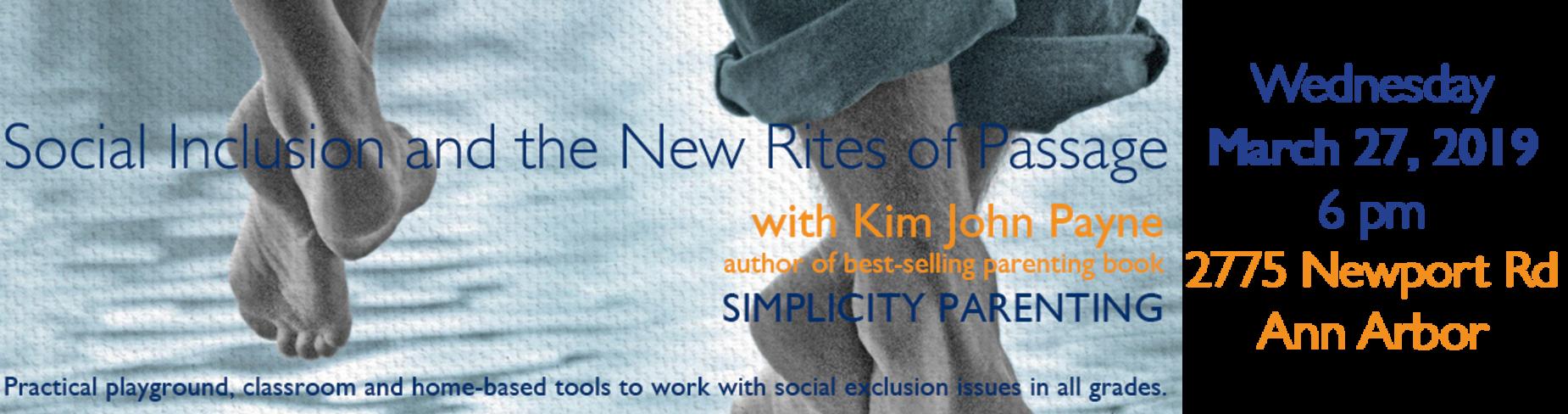 Kim John Payne Lecture March 27, 6 pm