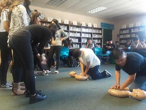 CPR Training for Sylvandale Students