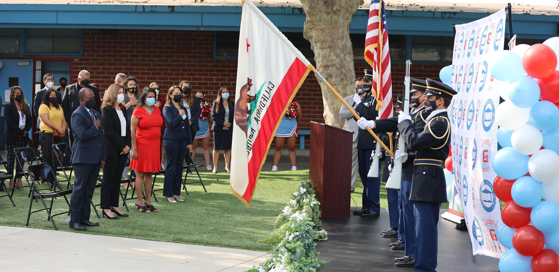 JROTC Colors During National Anthem