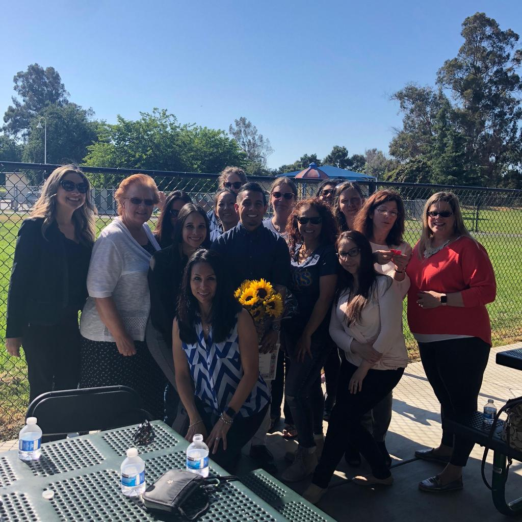 santee staff poses for picture at staff appreciation event