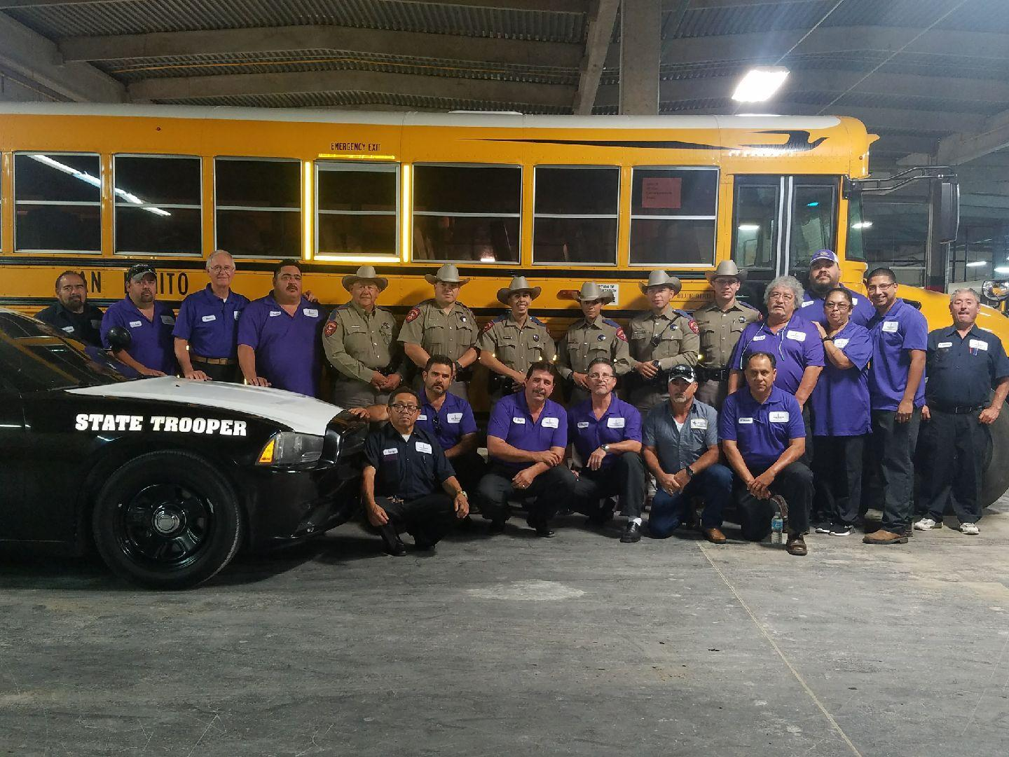 S.B.C.I.S.D. Drivers with Texas State Troopers