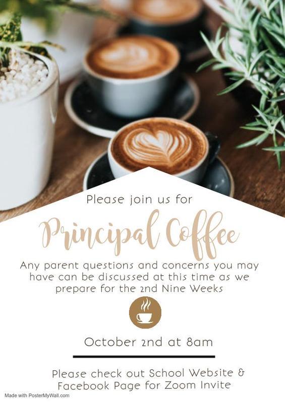 Join Us For Principal Coffee - Thursday, October 2nd! Haga clic aquí para obtener información en español Featured Photo