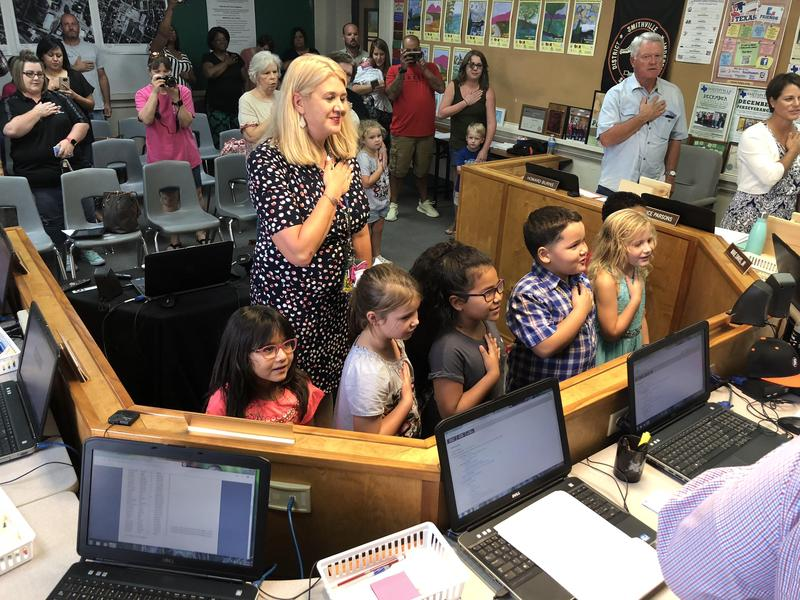 Students Lead Pledge at September Board Meeting Thumbnail Image