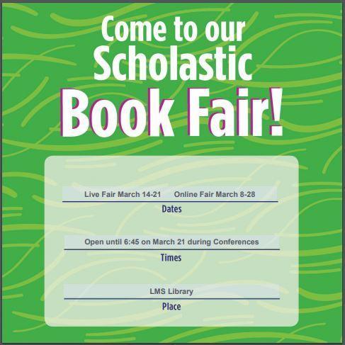 Book Fair March 14-21, Online Book Fair March 8-28