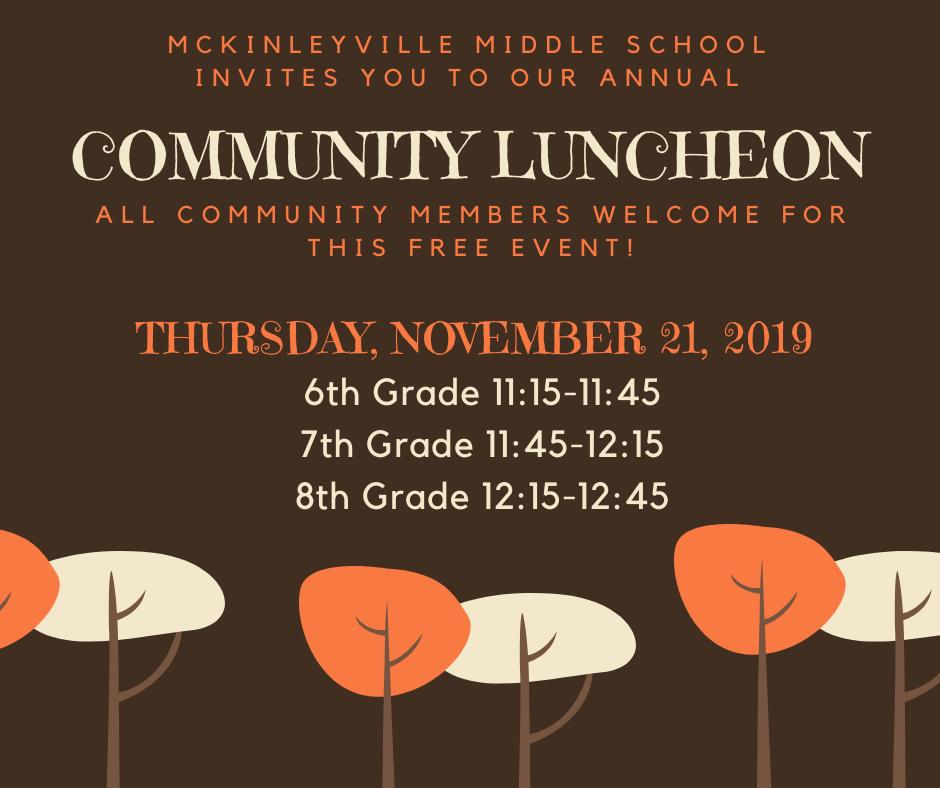 community luncheon