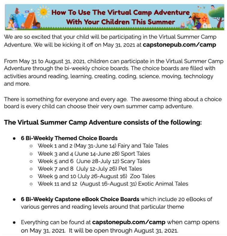 Virtual Camp Adventures Featured Photo