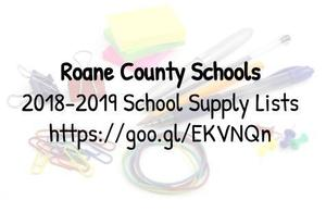 Roane County Schools supply lists are available by going to http://goo.gl/EKVNQn