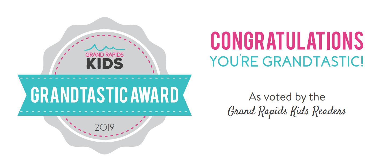 Congratulations you're grandtastic award badge