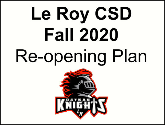 Le Roy CSD Re-Opening Plan Featured Photo