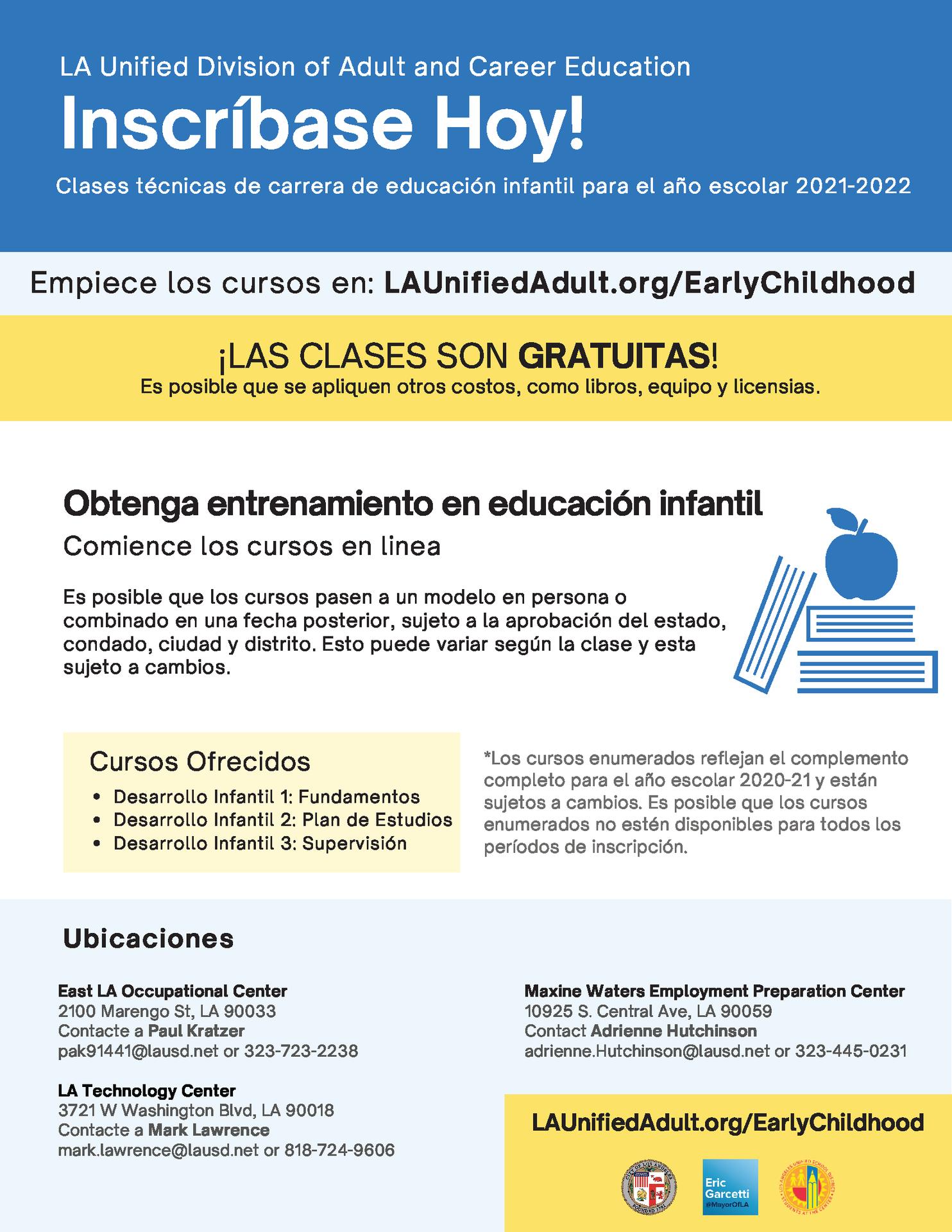 Early Childhood Education Career Flyer - Spanish