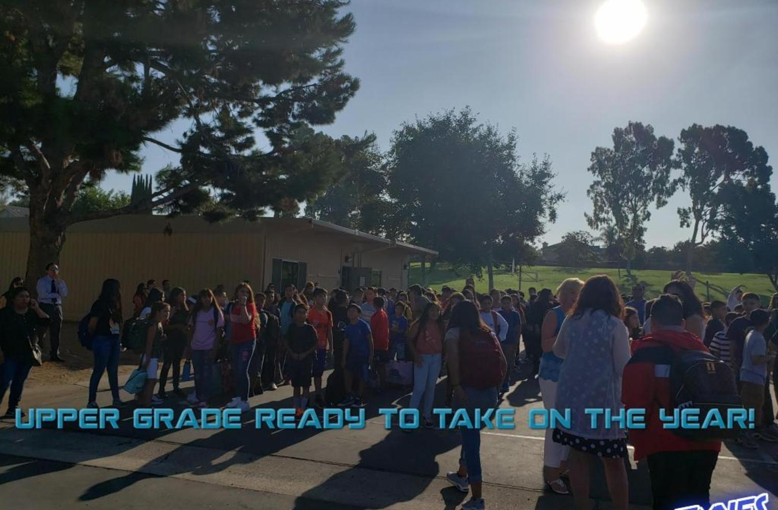 Students and staff first day of school