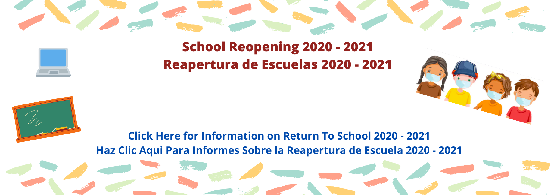 School Reopening Image Bilingual with NYCDOE Link