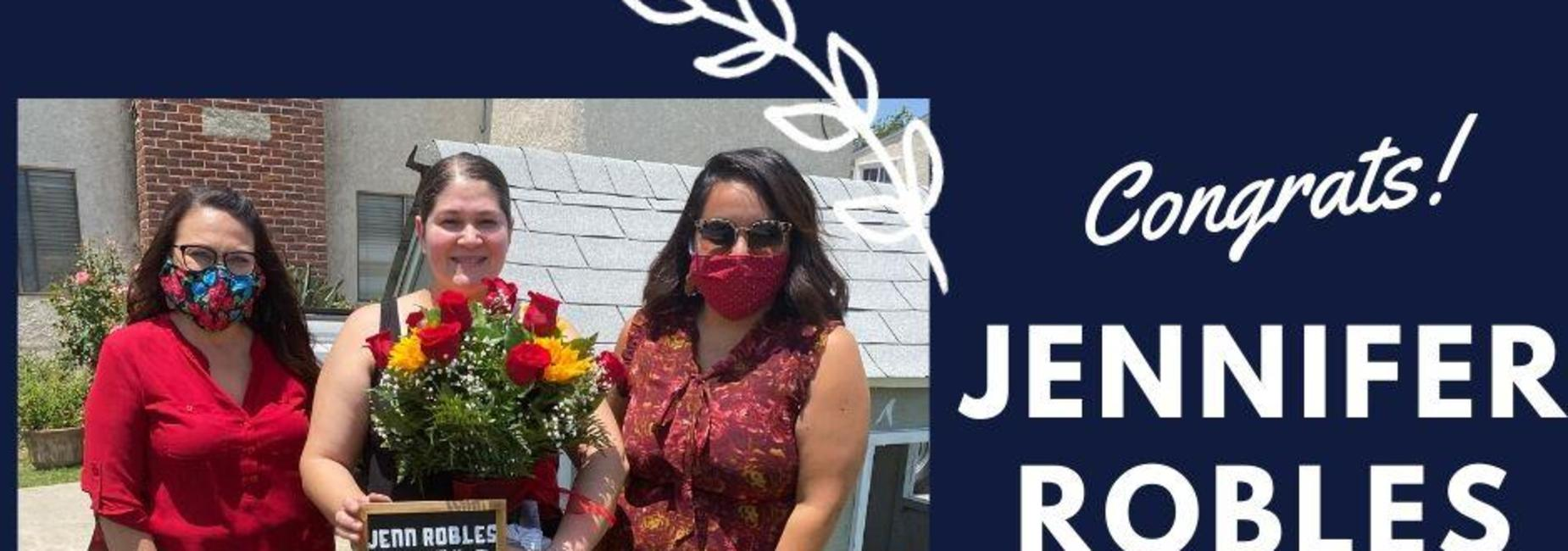 Congratulation Jennifer Robles, 2019-20 Parent of the Year!