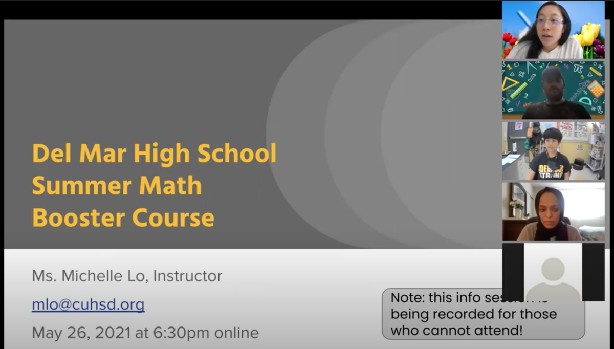 math booster info session may 26