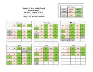 Spring 2021 - Distance Learning Class Meeting Calendar 2020-21.jpg