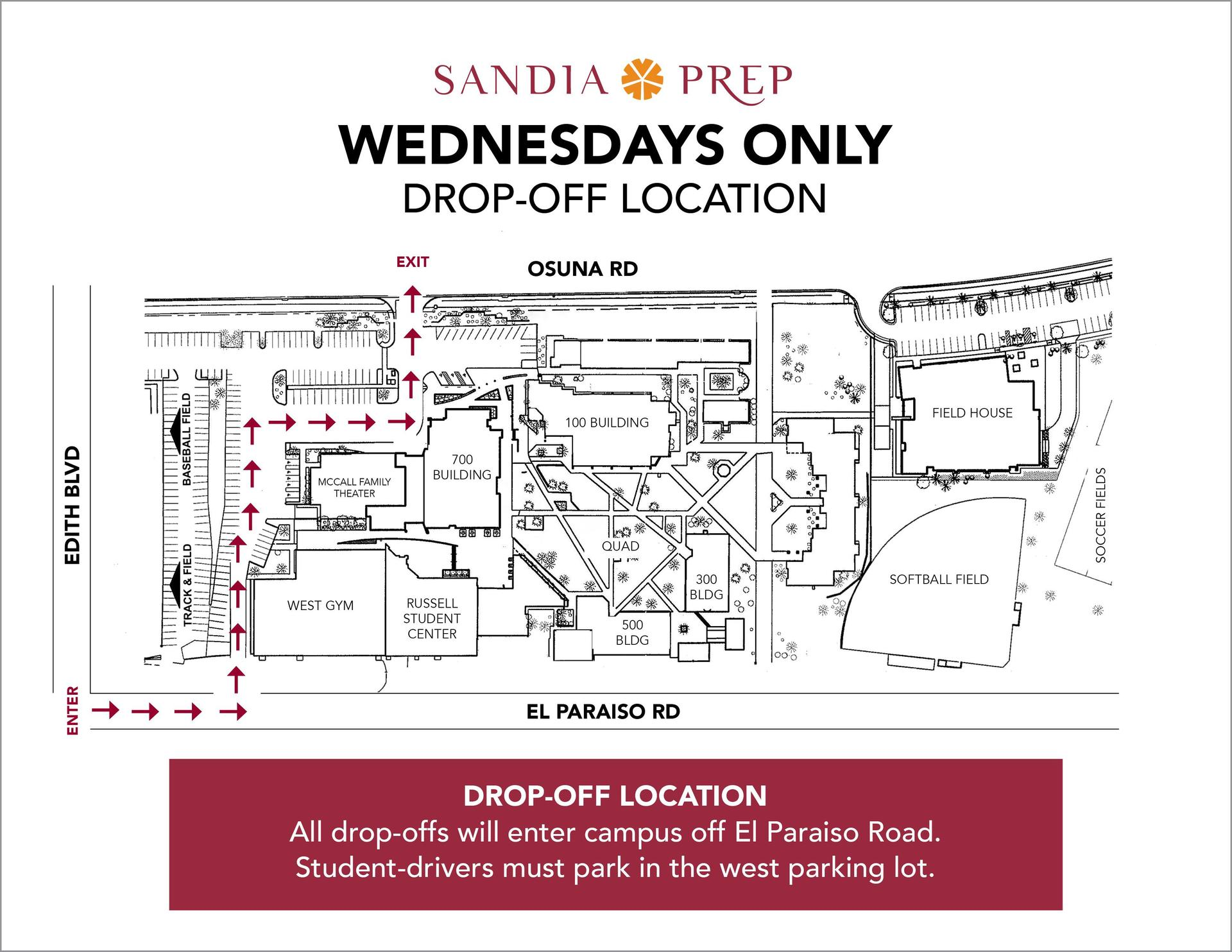 Wednesday Traffic Drop Off Map