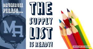The supply list is ready!