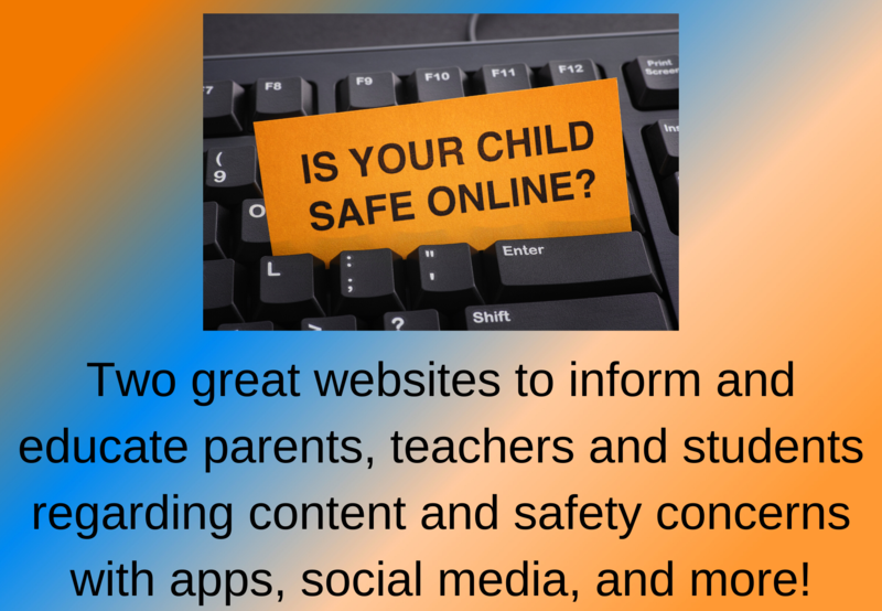 keyboard with sign that says is your child safe online?