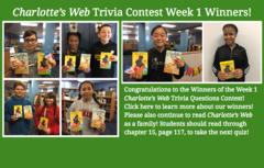 Charlotte's Web Week 1 Trivia Contest Winners