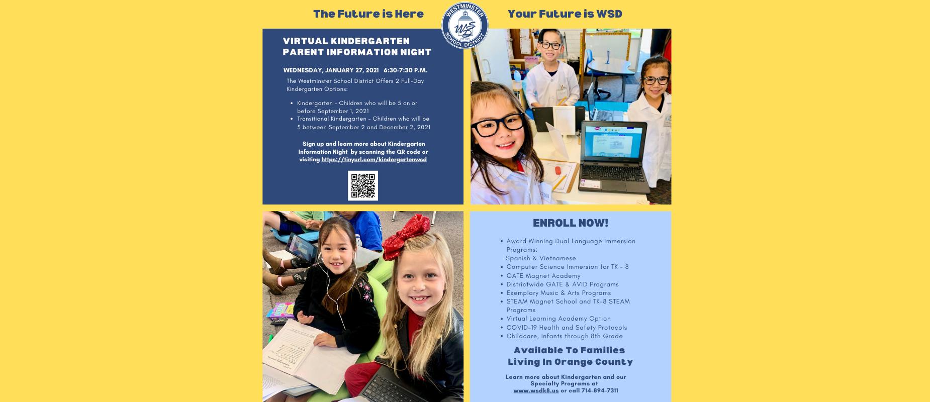 Virtual Kindergarten Parent Information Night Wednesday January 27, 2021