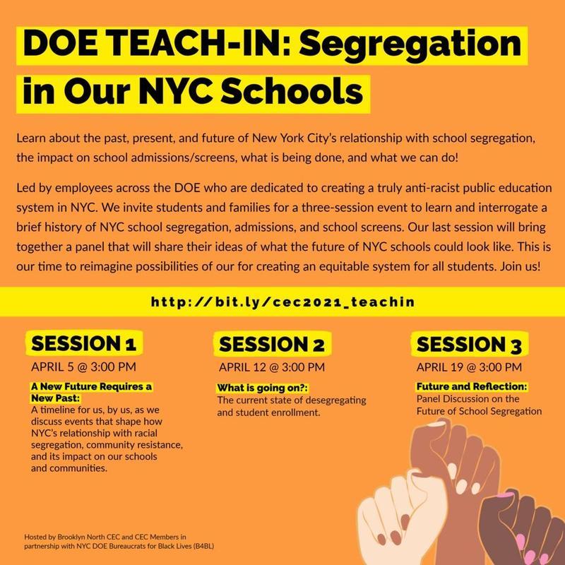DOE TEACH-IN: Segregation in Our NYC Schools Forum