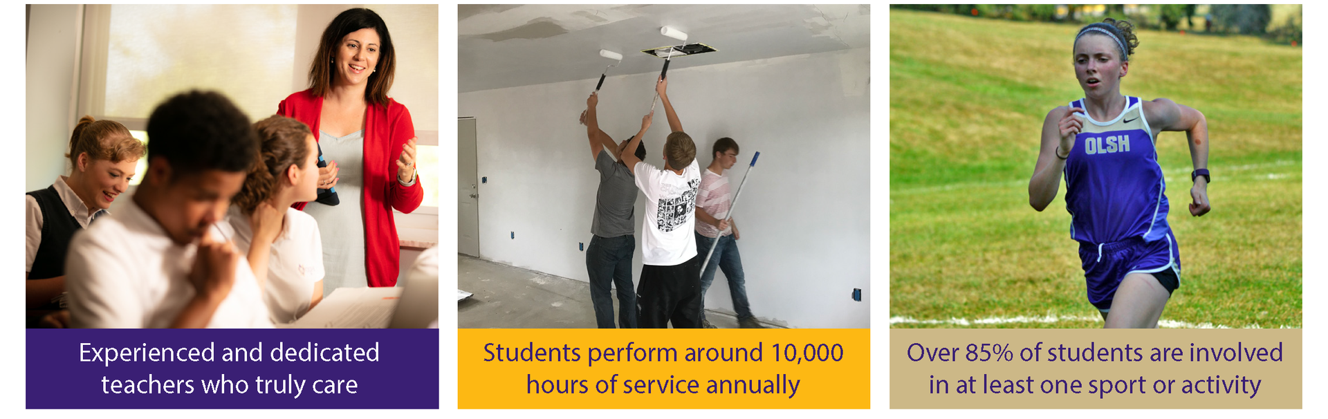 Did you know? OLSH students regularly complete nearly 10,000 hours of community service each year