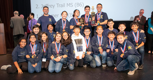 Kraemer Middle School's Science Olympiad team.