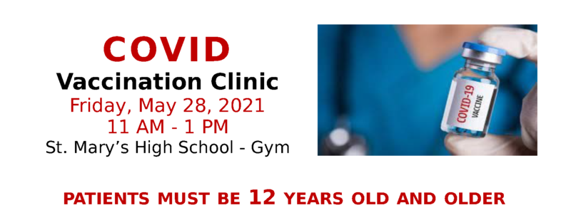 Sign-up for our COVID Vaccination Clinic Friday!