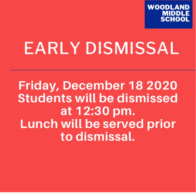 Early Dismissal- Friday December 18, 2020 Featured Photo