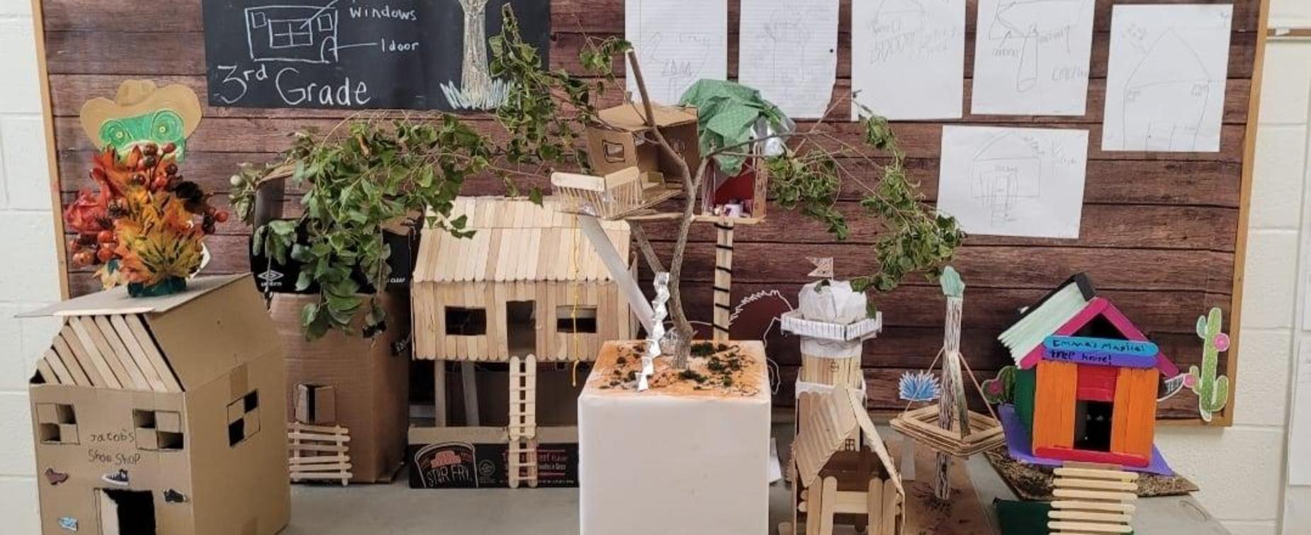 3rd Grade Tree house creations