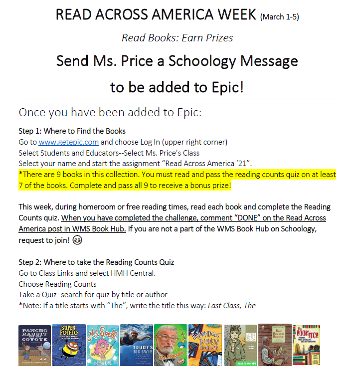 Ms. Price's Reading Challenge Featured Photo