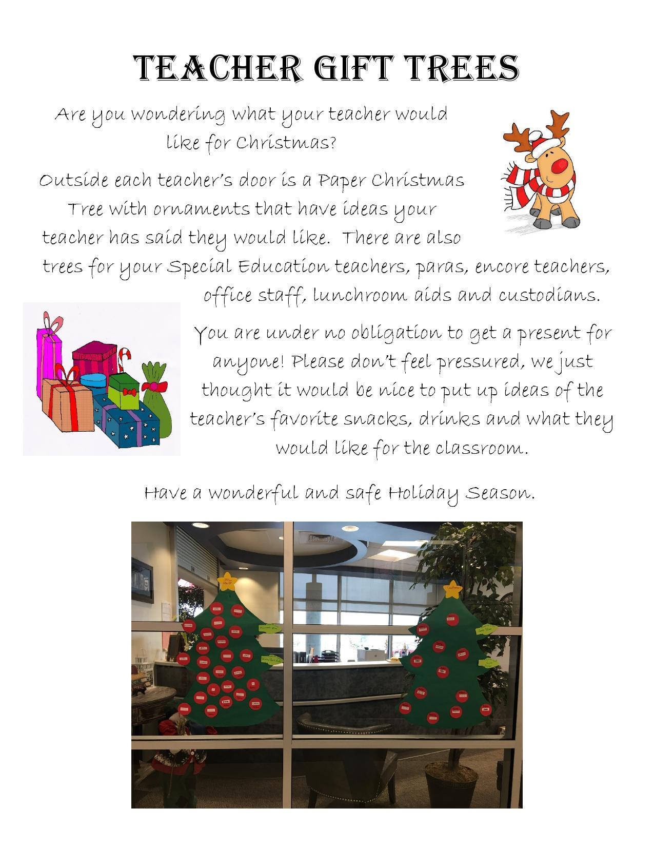 Teacher gift trees