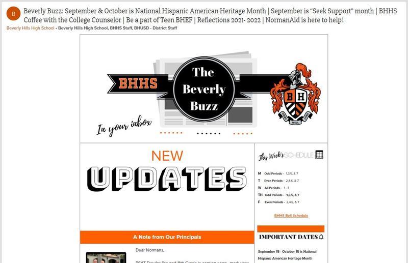 BHHS Newsletter - The Beverly Buzz - September 22, 2021