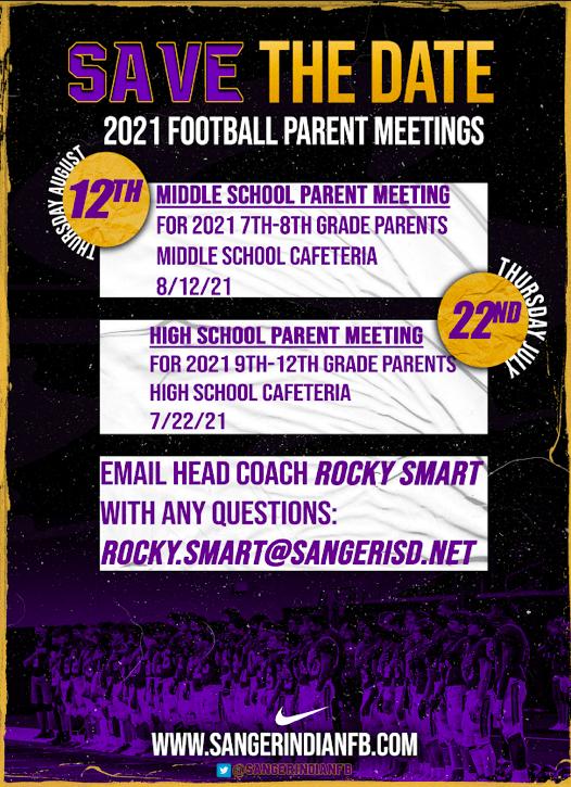 Parent meeting dates