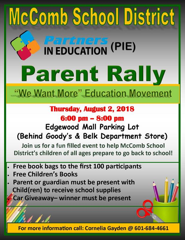Partners In Education Sponsors Parent Rally 2.
