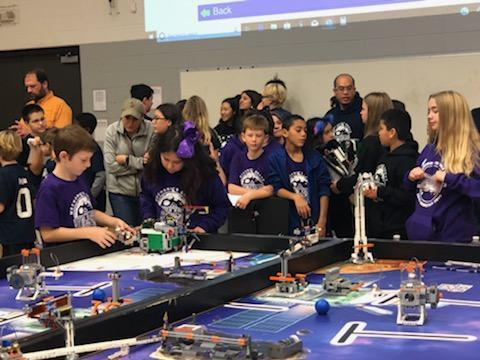Students compete at lego robotics competition