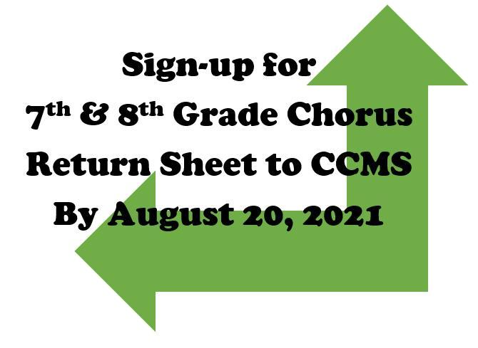 Sign up for chorus