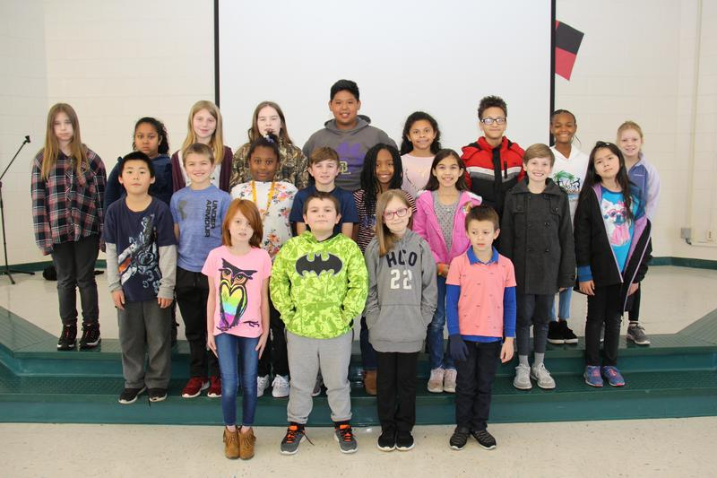 """More than twenty B-L Elementary School students were recently selected by the school's faculty members as displaying the character trait of """"Tolerance."""""""