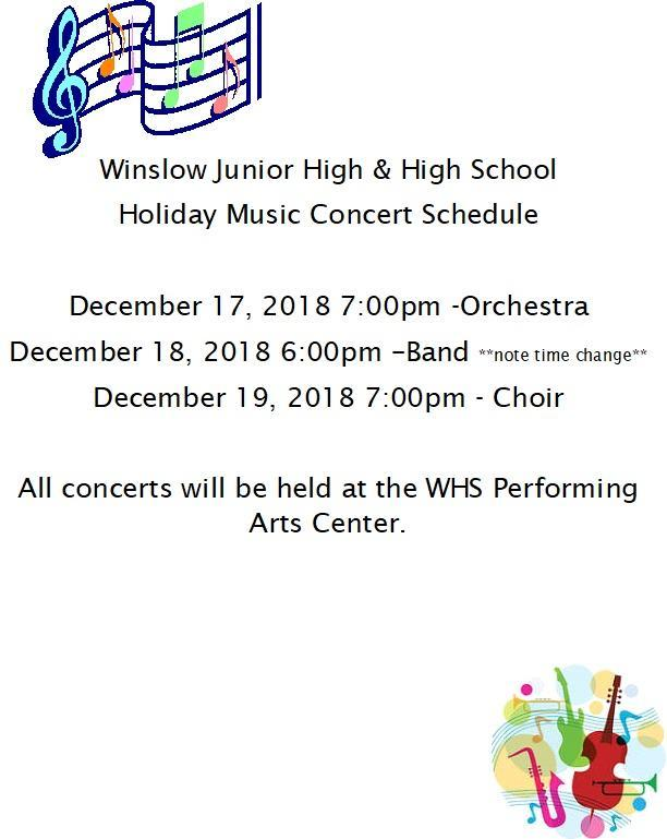 Winter Concert Schedule Featured Photo