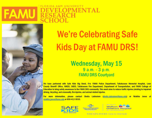 Safe Kids Day at FAMU DRS Flyer