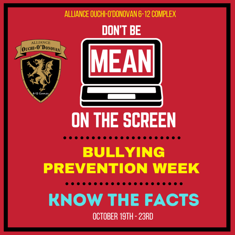 Don't Be Mean on the Screen <<<BULLYING PREVENTION WEEK>>>> Oct 19-23 Thumbnail Image