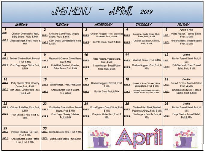April lunch clipart