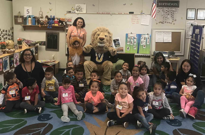Pre School gets visit from Vanguard Mascot