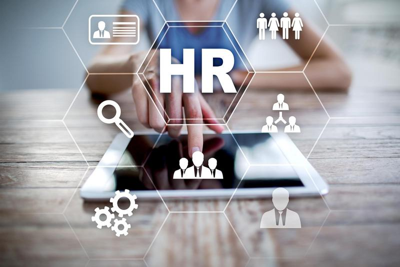 Human resource management, HR, recruitment, leadership and team-building. Business and technology concept