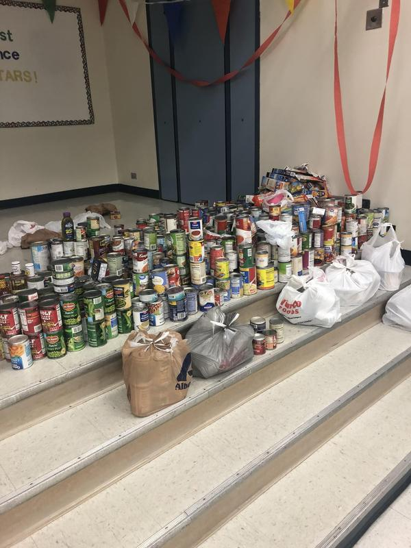 A lot of canned food