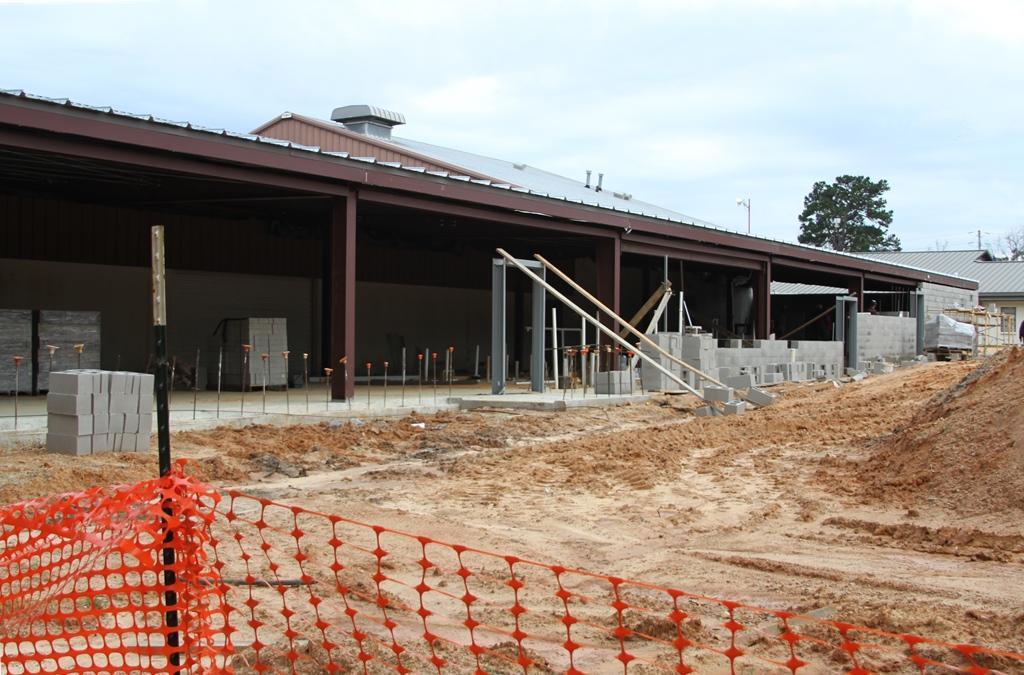 Photo of LJH locker room addition under construction