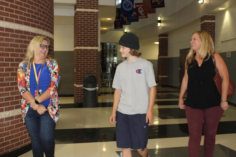 New student tours Smith Middle School