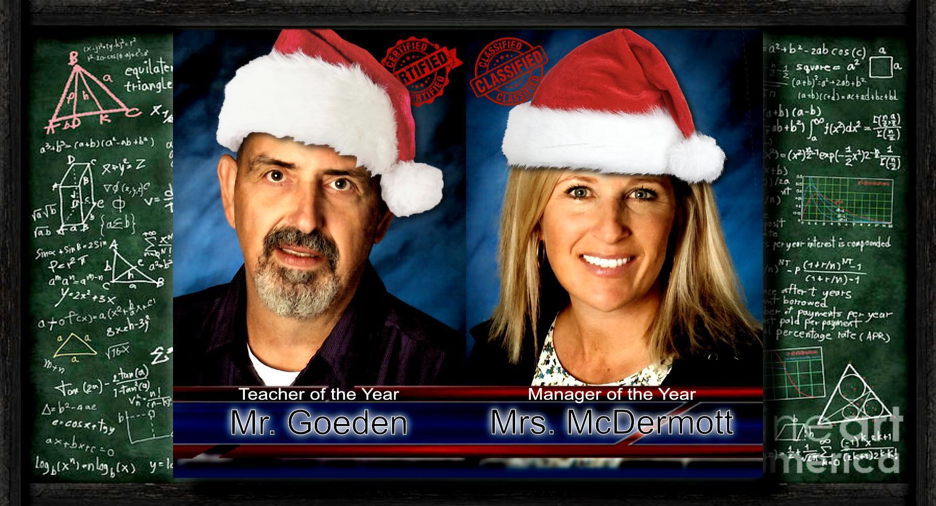 Teacher of the Year - Goeden/McDermott - xmas