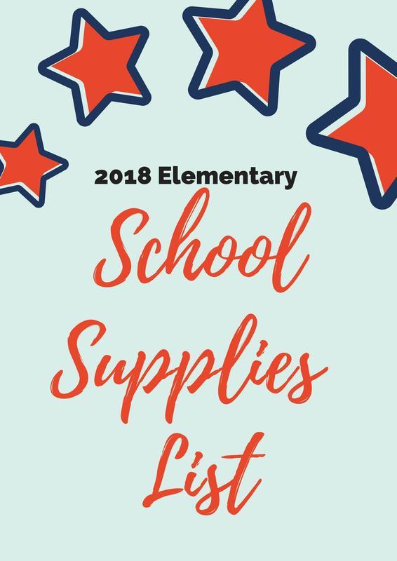 2018-2019 Elementary Supply List Thumbnail Image